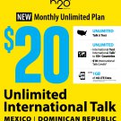 Brand New H2O Wireless Triple-Cut SIM Card $20 Plan 1 Month Included