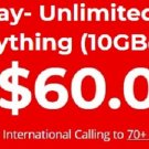Brand New Red Pocket Mobile Triple-Cut AT&T GSMA SIM Card $60 Plan 1 Month Included