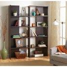 """Realspace Cove Springs Expanding 5-Shelf Bookcase, 71 1/2""""H x 50 5/16""""W x 10""""D, Espresso"""