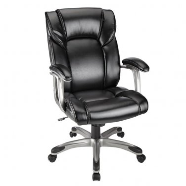 Realspace Salsbury High-Back Chair, Black