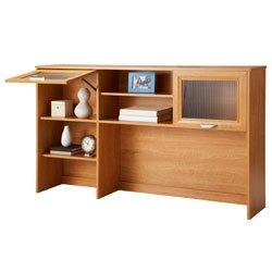"Realspace Magellan Collection Hutch, 33 5/8""H x 58 1/8""W x 11 5/8""D, Honey Maple"