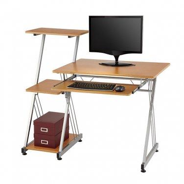 "Realspace Limble Computer Desk, 39 3/8""H x 46""W x 21 1/2""D, Birch"