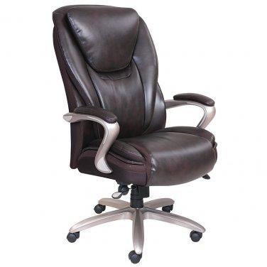 Serta Smart Layers Hensley Executive Big & Tall Chair, Roasted Chestnut/Satin Nickel