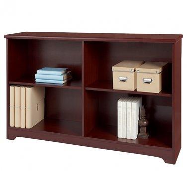 "Realspace Magellan Collection 2-Shelf Sofa Bookcase, 29""H x 47 1/4""W x 11 3/5""D, Classic Cherry"