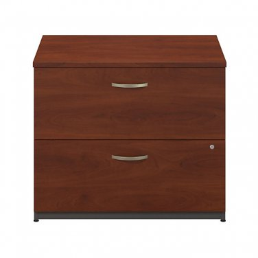 "BBF Components Collection 36"" Wide 2 Drawer Lateral File, Hansen Cherry"