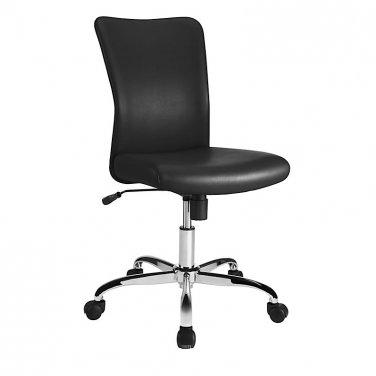 Brenton Studio Birklee Faux Leather Task Chair, Black/Chrome