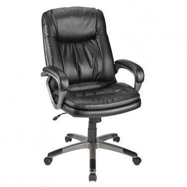 Realspace Harrington II High-Back Chair, Black/Gray