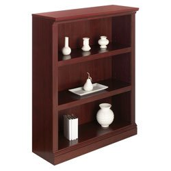 Realspace Premium Bookcase, 3-Shelf, Classic Cherry