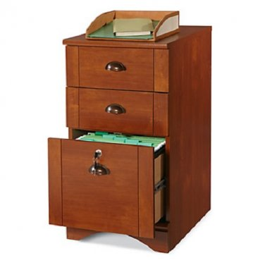 """Realspace Dawson 3-Drawer Vertical File Cabinet, 29""""H x 15 1/2""""W x 21 3/4""""D, Brushed Maple"""