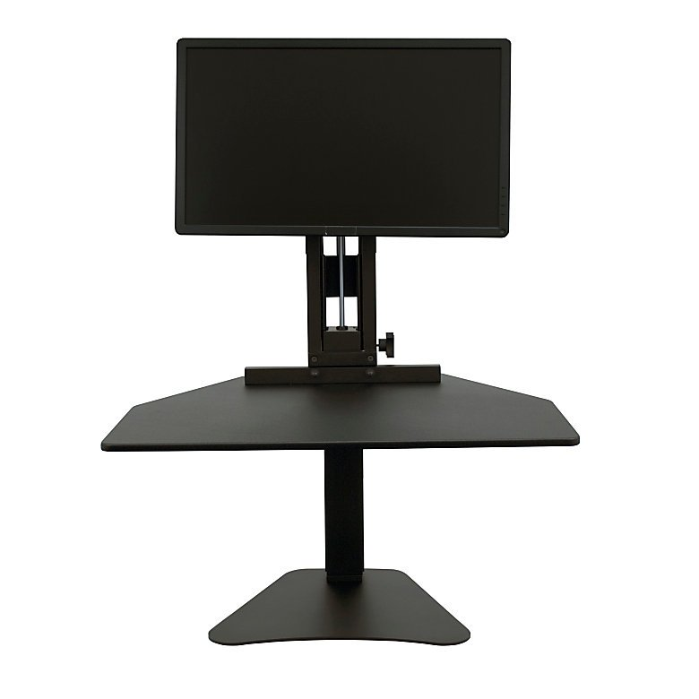 Victor High Rise Sit Stand Desk Converter With Monitor