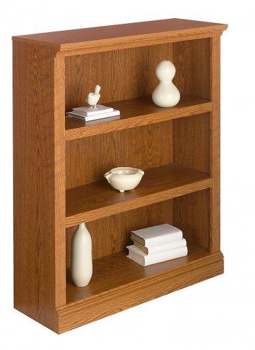 Realspace Premium Bookcase, 3-Shelf, Carolina Oak