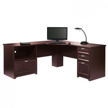Realspace Magellan Performance Collection L-Desk, Cherry
