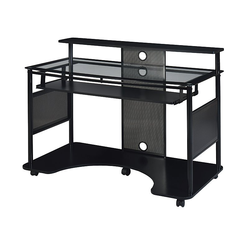 Z Line Designs Mobile Workstation Desk Black