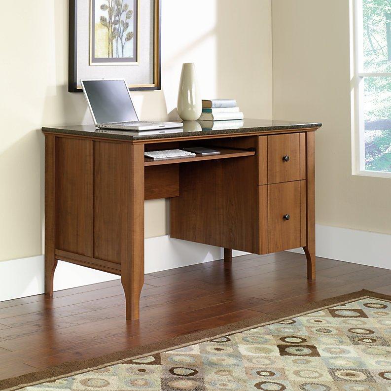 Sauder Appleton Faux Marble Top Computer Desk Sand Pear