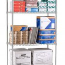 "OFM Heavy-Duty Storage Unit, 72""H x 48""W x 18""D, Silver"