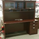 Realspace Magellan Performance Collection Straight Desk + Hutch, Cherry