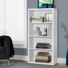 Monarch Specialties Adjustable 3-Shelf Bookcase, White