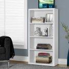 Monarch Specialties Adjustable 3-Shelf Bookcase, White