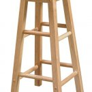 """Linon Home Décor Wooden Stool With Round Seat, 24"""" Counter, 24""""H x 12""""W x 12""""D, Natural Pine"""
