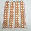 10 pair 6-7mm pink bread pearl loose bead, DIY jewelry findings,00004KB