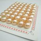 1 pair 9-10mm pink semiround  freshwater pearl bead,DIY jewelry findings,00009KB