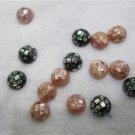 12mm  semiround abalone shell bead loose, DIY jewelry findings ,00270XY01