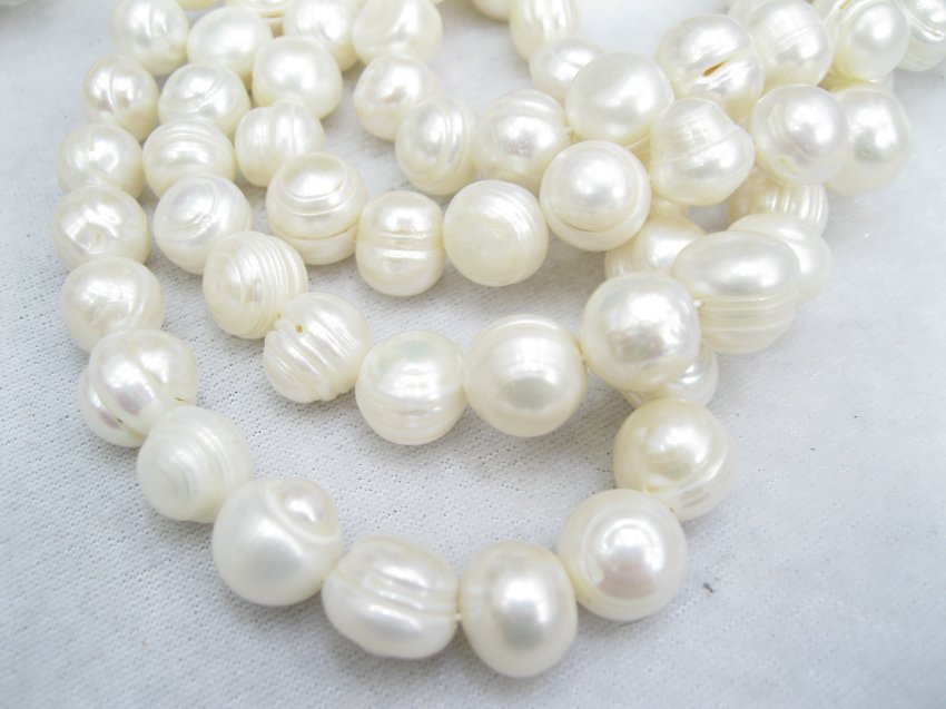 huge 12-13mm ridge pearl on temporary strand,01007XC