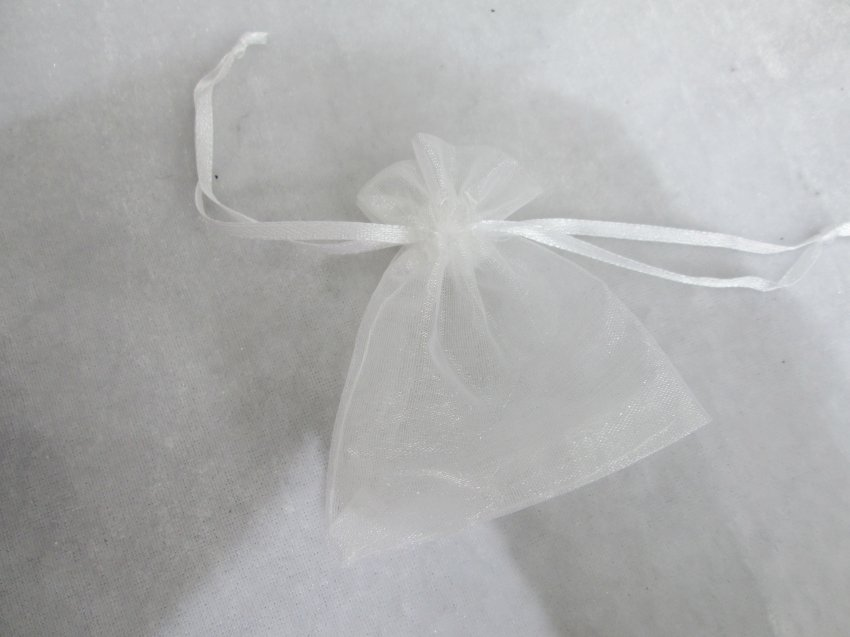 10 pcs white Organza Drawstring Bags for jewelry�01016BS
