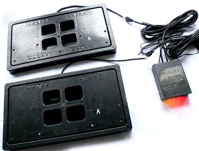 AvaParts Electric license plate flipper USA type 2 pcs in set
