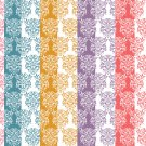 12 Digital Scrapbook Paper Arabesque Pattern Candy Colors