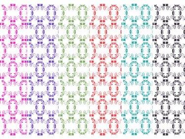 12 Digital Scrapbook Paper Arabesque Pattern