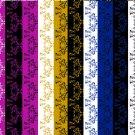 12 Digital Scrapbook Paper Arabesque Pattern Glam Colors