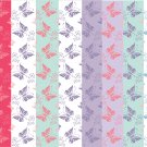 10 Digital Scrapbook Paper Butterfly Pattern Pastel Colors