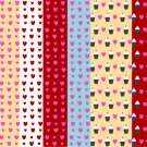13 Digital Scrapbook Paper Cupcake Pattern Candy Pastel Colors