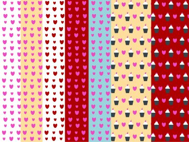 13 Digital Scrapbook Paper Cupcake Pattern Candy Pastel Colors