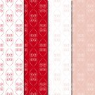 10 Digital Scrapbook Paper Heart Pattern