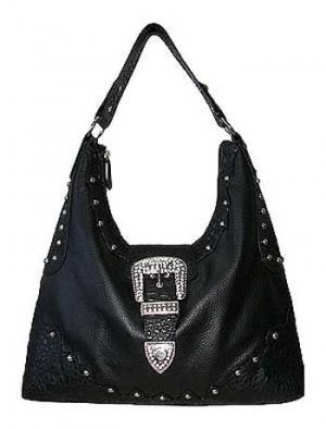 Fashion Hobo Black with Buckle