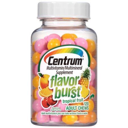 Centrum Flavor Burst Adult Multivitamin/Multimineral Tropical Fruit Flavor 120