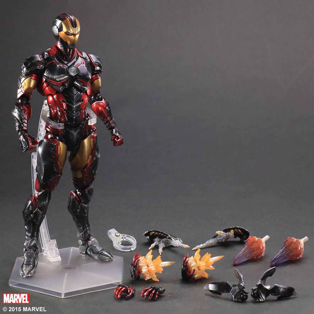 Marvel Shield Play Arts Kai America Anime Avengers Iron Man Action Figure Toys 1PCS 24cm Model 0275