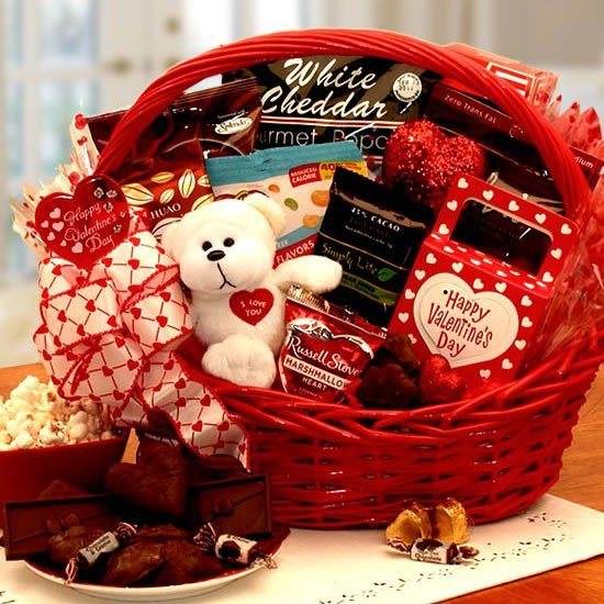 Rose Valentine Giftbasket