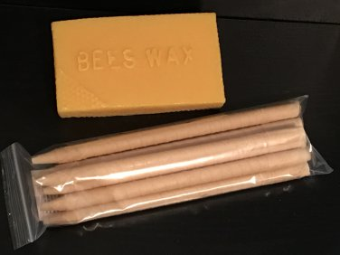 10 Pack Beeswax Therapy Candles