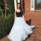 White Prom Dress, Long Prom Dresses,Chiffon Evening Dress