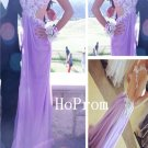 V-Neck Prom Dress, Long Prom Dresses,Backless Evening Dress