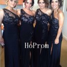 One Shoulder Prom Dress, Long Prom Dresses,Black Evening Dress