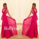 Long Prom Dress,V-Neck Prom Dresses,Sleeveless Evening Dress