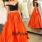 Two Piece Prom Dress, Long Prom Dresses,A-Line Evening Dress