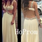 Long Prom Dress,Backless Prom Dresses,A-Line Evening Dress