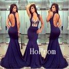 Backless Sheath Prom Dress,Mermaid Prom Dresses,Long Evening Dress