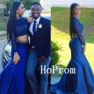 Two Piece Prom Dress,Long Sleeve Prom Dresses,Long Evening Dress