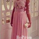 Long Sleeve Prom Dress,A-Line Prom Dresses,Pink Evening Dress